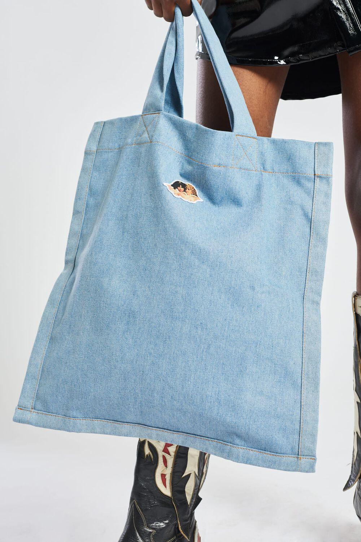 Icon Angels Denim Tote Bag Blue