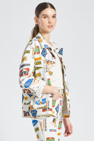 Unisex Racing Print Jacket White