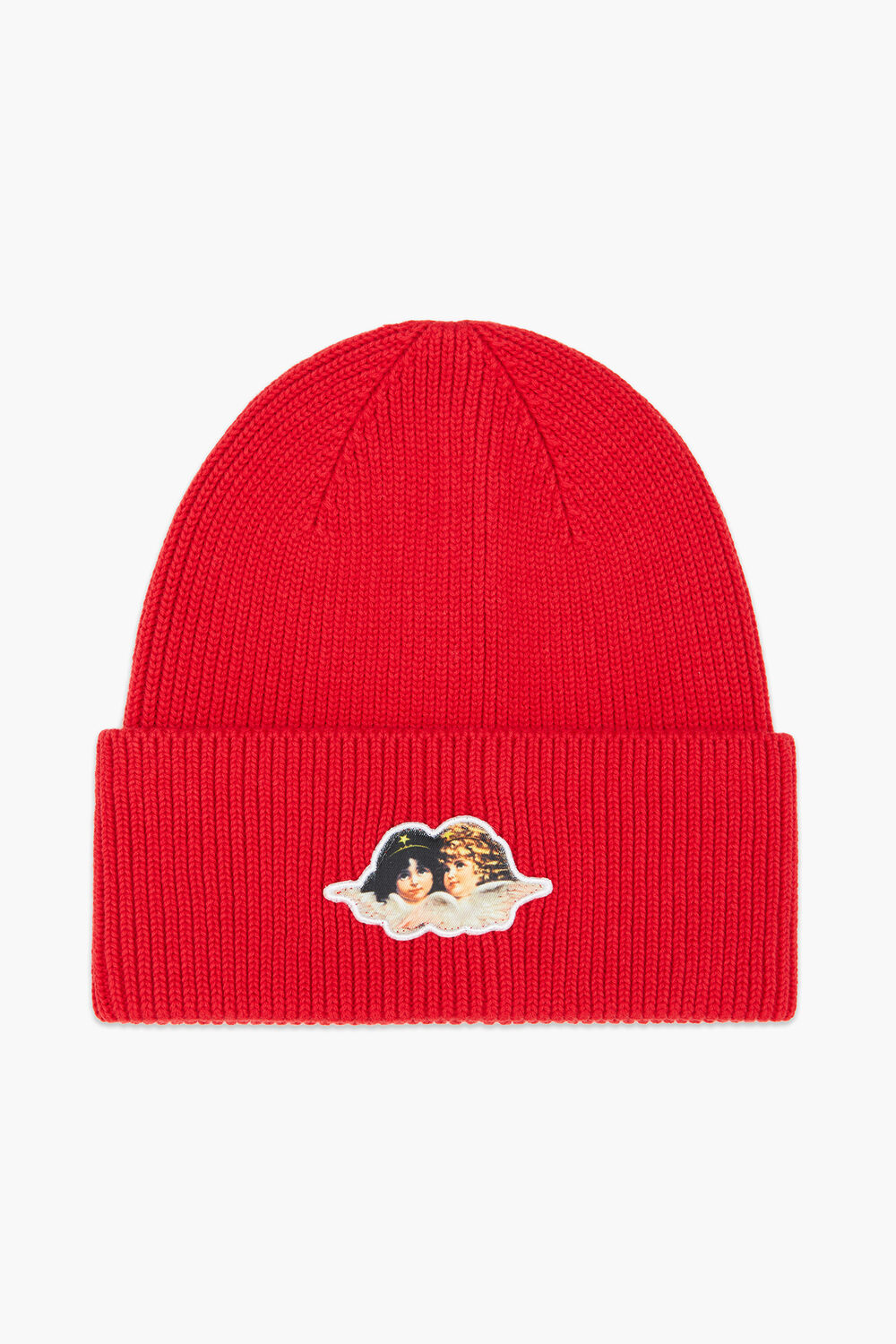 Angels Ribbed Beanie Red