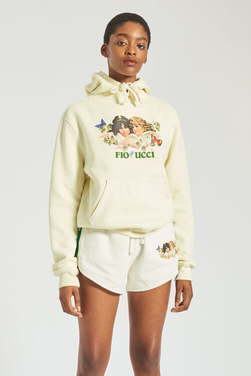 Woodland Angels Hoodie Pale Yellow