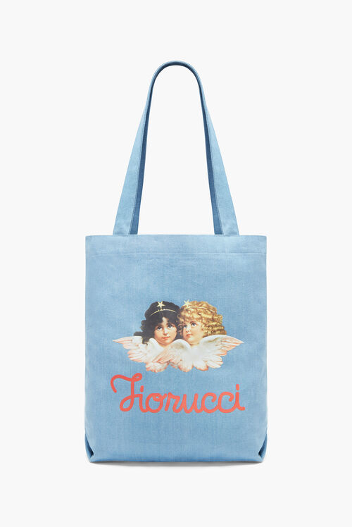 Angels Denim Tote Bag Light Vintage