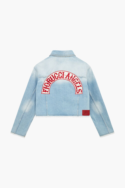 Berty Angel Crop Denim Jacket Light Vintage