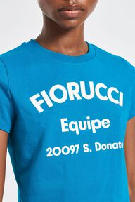 Equipe Logo Crop T-Shirt Blue