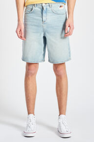Icon Angels Loose Denim Shorts Blue