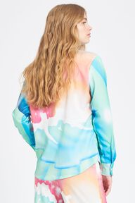 Cosmic Waters Printed Shirt Blue