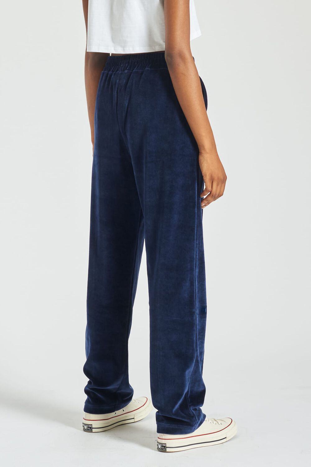 Angels Patch Velour Joggers Navy