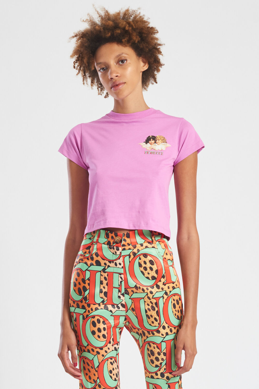 Mini Angels Logo Crop T-Shirt Lilac