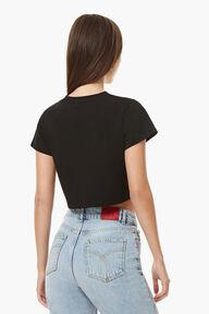 Vintage Angels Crop T-Shirt Black
