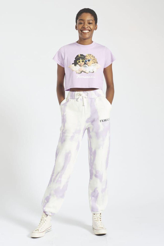 Angel Patch Tie Dye Jogger Lilac