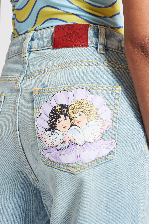 Venus Angels Patch Tara Jeans Blue