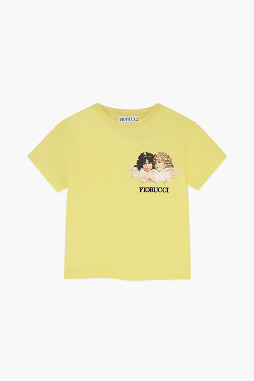 Angels Logo Crop T-Shirt Yellow