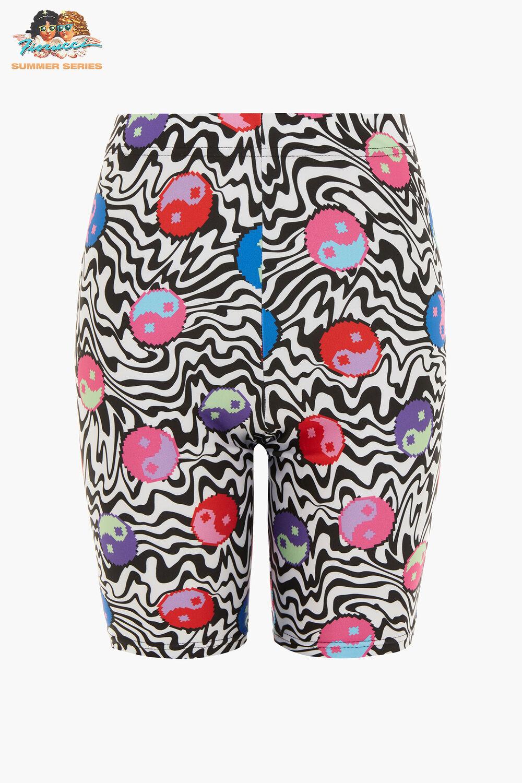 Tara Khorzad Trippy Yin Yang Shorts