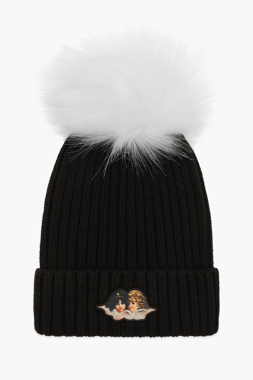 Icon Angels Bobble Hat Black