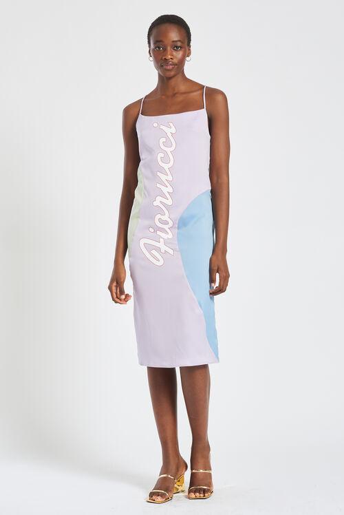 La Pesca Pastel Slip Dress Lilac