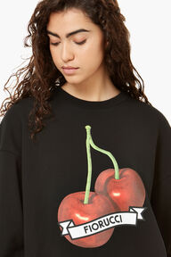 Cherry Graphic Sweatshirt Black