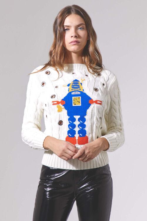 Robot Crew Neck Knitwear