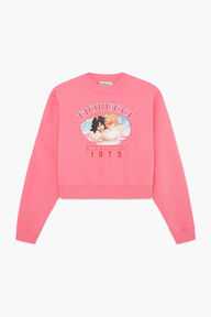 Snow Angels Crop Sweatshirt Pink
