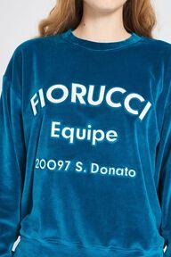 Equipe Logo Velour Sweatshirt Blue