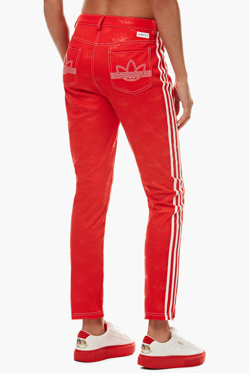 Adidas x Fiorucci Jacquard Angel Track Pant Red