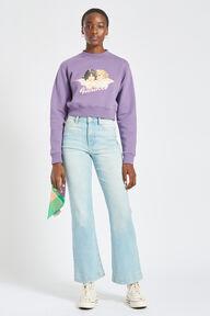 Angels Crop Sweatshirt Purple