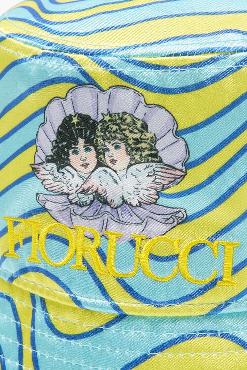 Venus Angels Wave Print Bucket Hat Blue