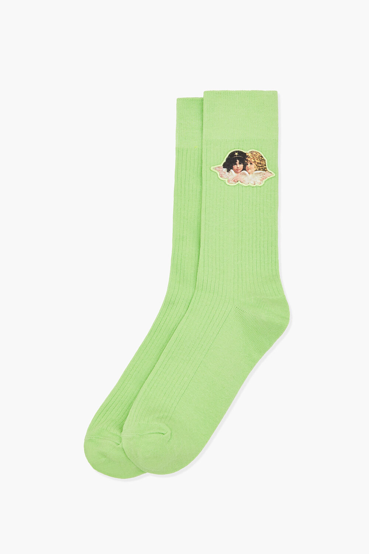 Angels Socks Lime Green