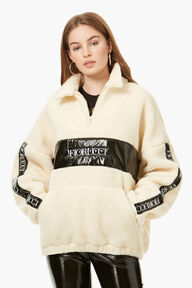Shearling Track Top