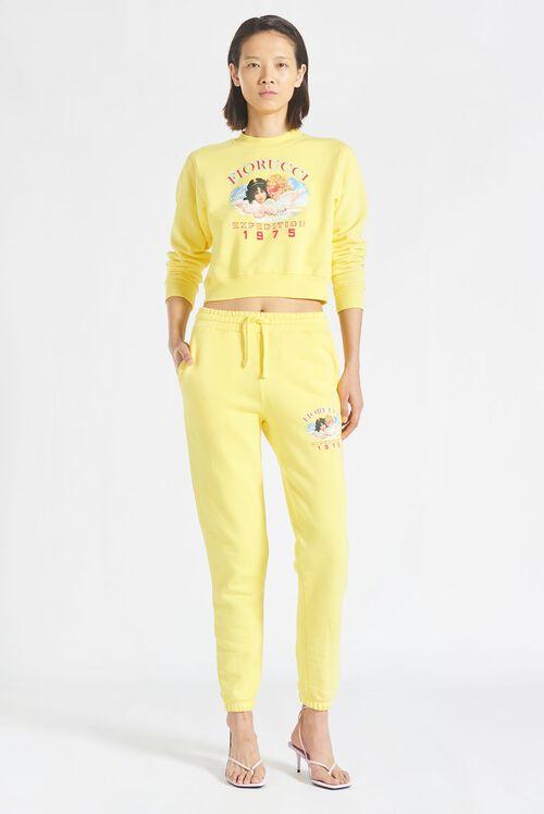 Snow Angels Crop Sweatshirt Yellow