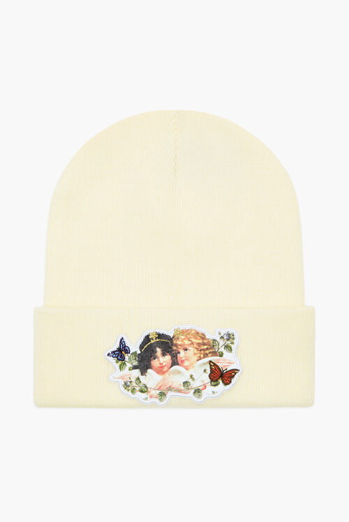 Woodland Angel Beanie Hat Cream
