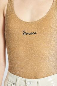 Logo Swimsuit Gold