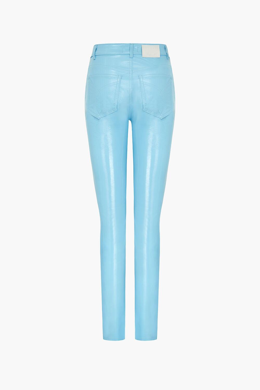 Yves Vinyl Trousers Sky Blue