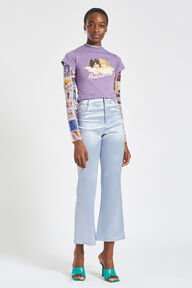 Angels Crop T-Shirt Purple
