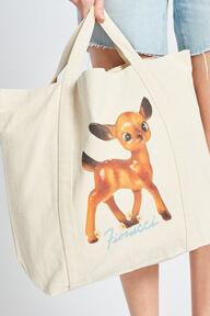 Deer Tote Bag Beige