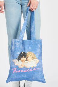 Acid Wash Tote Bag Blue