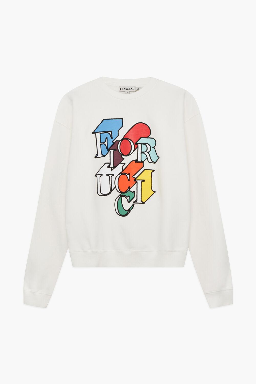 Flying Logo Sweatshirt White