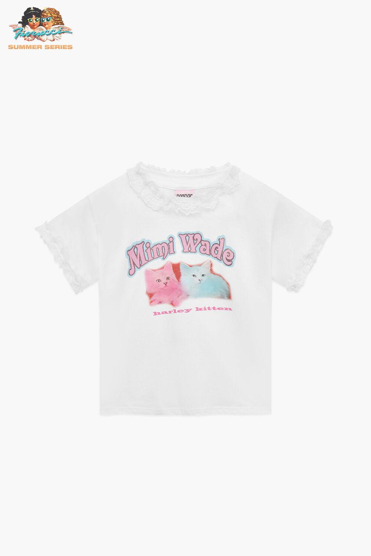 Mimi Wade Harley Kitten Baby T-Shirt White