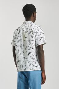 Banana Bowling Shirt White