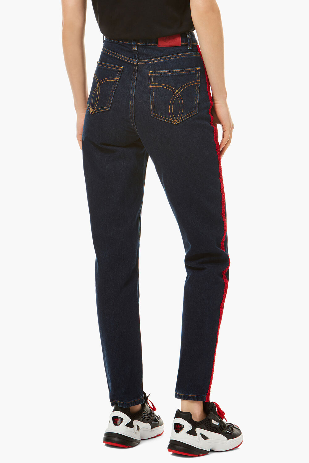 Tara Tapered Logo Jeans Medium Dark