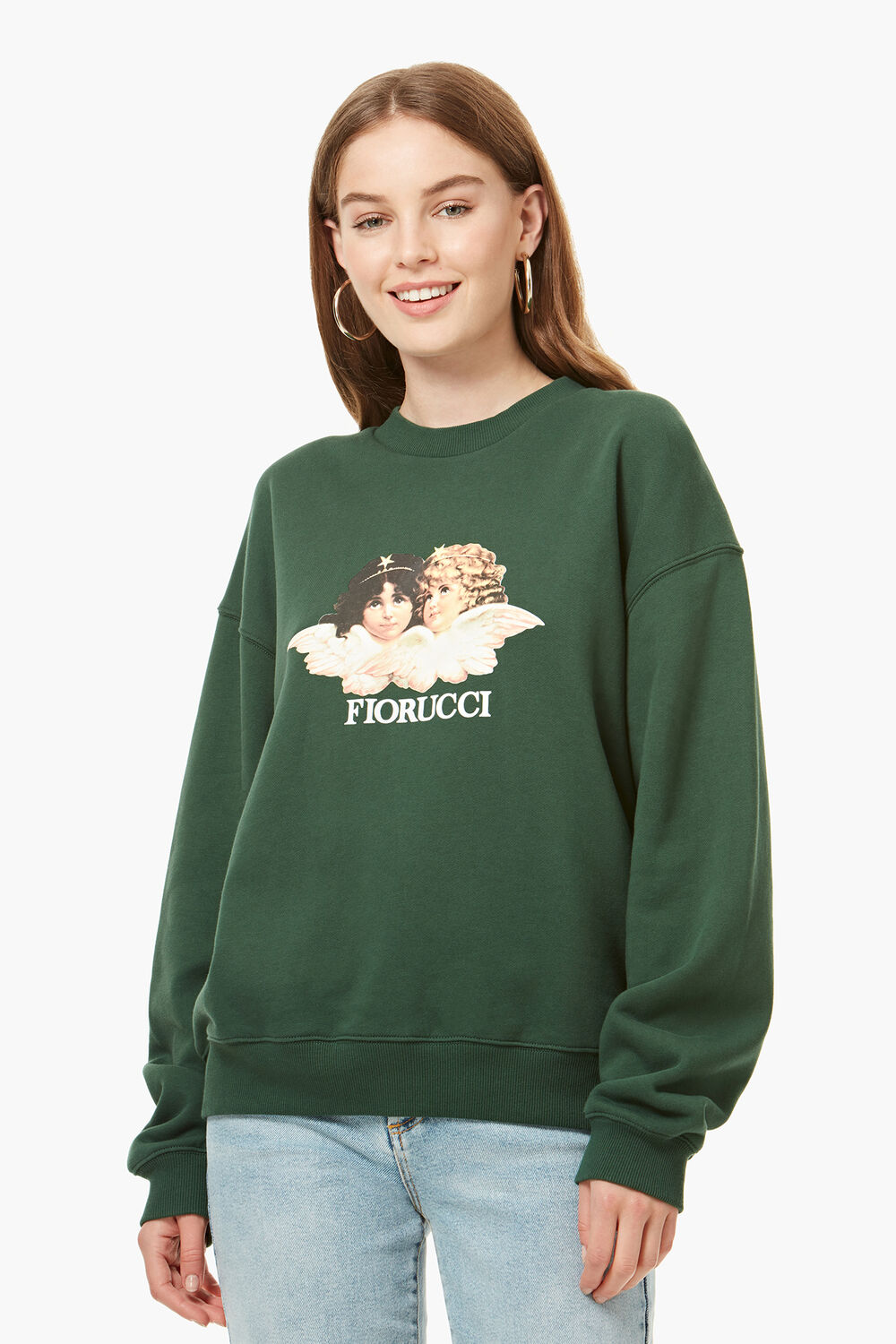 Vintage Angels Sweatshirt Forest Green