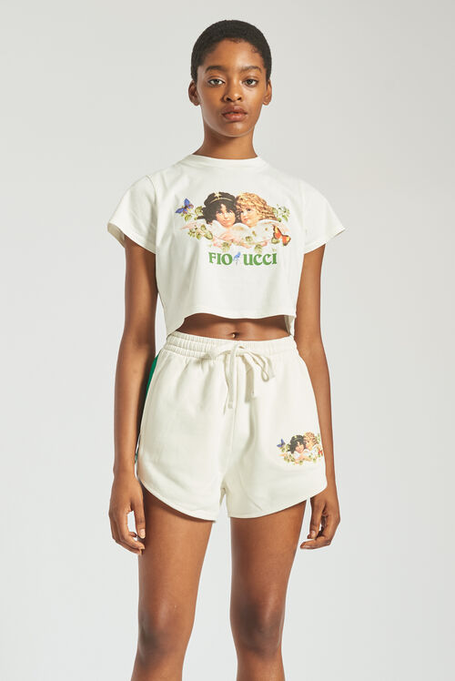 Woodland Angels Track Shorts Off White
