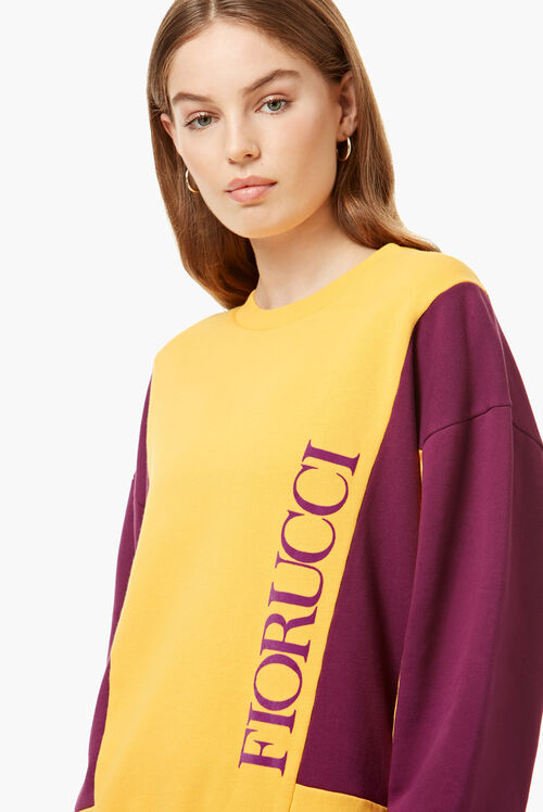 Bicolour Logo Sweatshirt Orange