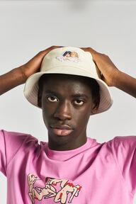 Angels Vinyl Bucket Hat Cream