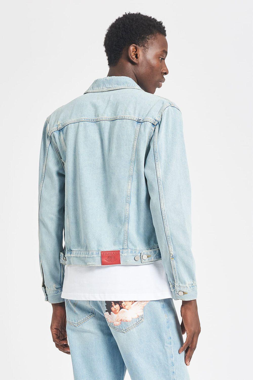 Angel Patch Denim Jacket Blue