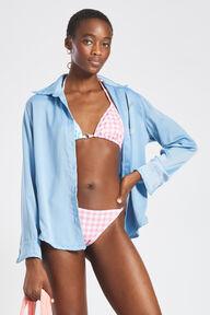 Angels Gingham Bikini Top Pink & Blue