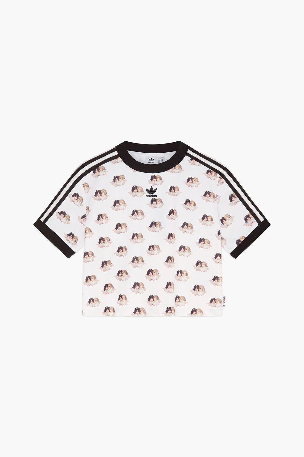 Adidas x Fiorucci All Over Angels Cropped T-Shirt White