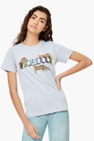 Cheetah Graphic T-Shirt Grey