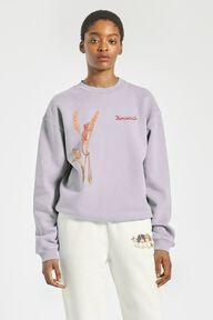 Woodland Mouse Sweatshirt Lilac