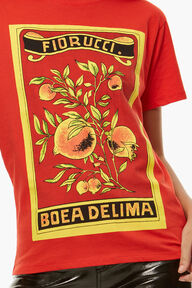 Towel Print T-Shirt Blood Orange