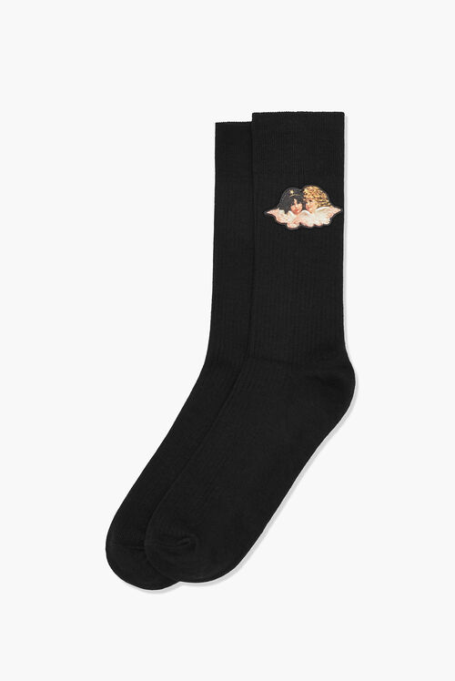 Angels Socks Black
