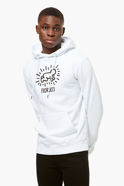 Keith Haring Hoodie White